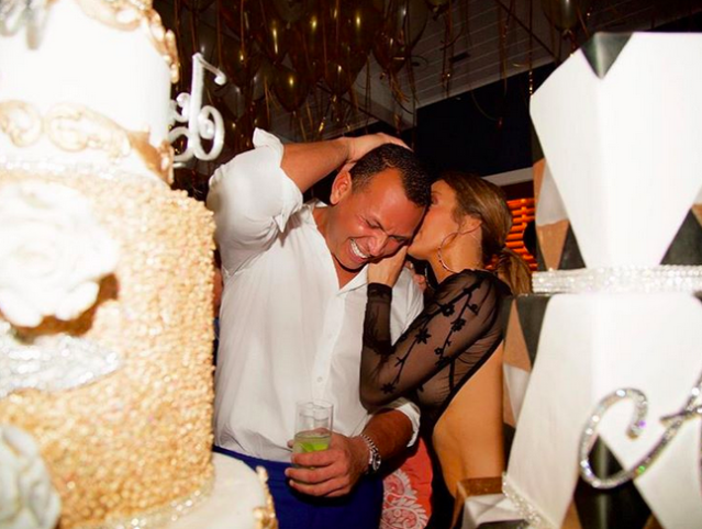 "<p>The triple threat and her baseball hunk boyfriend, Alex Rodriguez, shared secrets while celebrating their July birthdays together in Miami this weekend. ""In a crowded room but it's just the two of you… #birthdaylaughs #insidejokesallday #team #US,"" she captioned this pic. (Photo: <a href=""https://www.instagram.com/p/BW7tNwBlM3g/?taken-by=jlo"" rel=""nofollow noopener"" target=""_blank"" data-ylk=""slk:Jennifer Lopez via Instagram"" class=""link rapid-noclick-resp"">Jennifer Lopez via Instagram</a>) </p>"