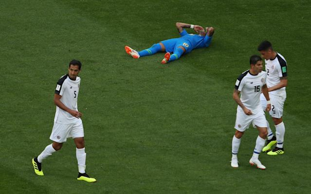 Soccer Football - World Cup - Group E - Brazil vs Costa Rica - Saint Petersburg Stadium, Saint Petersburg, Russia - June 22, 2018 Brazil's Neymar lies on the pitch after sustaining an injury REUTERS/Lee Smith