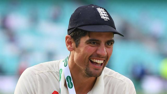 James Anderson ensured Alastair Cook's international career ended with a win by claiming the final wicket in the fifth Test against India.