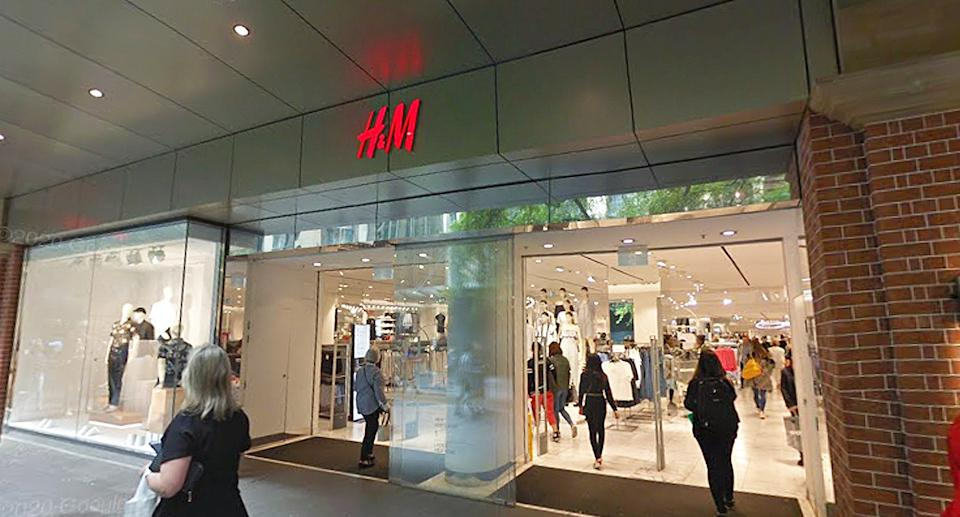 H&M in the CBD has been identified as a close contact exposure site. Source: Google Maps