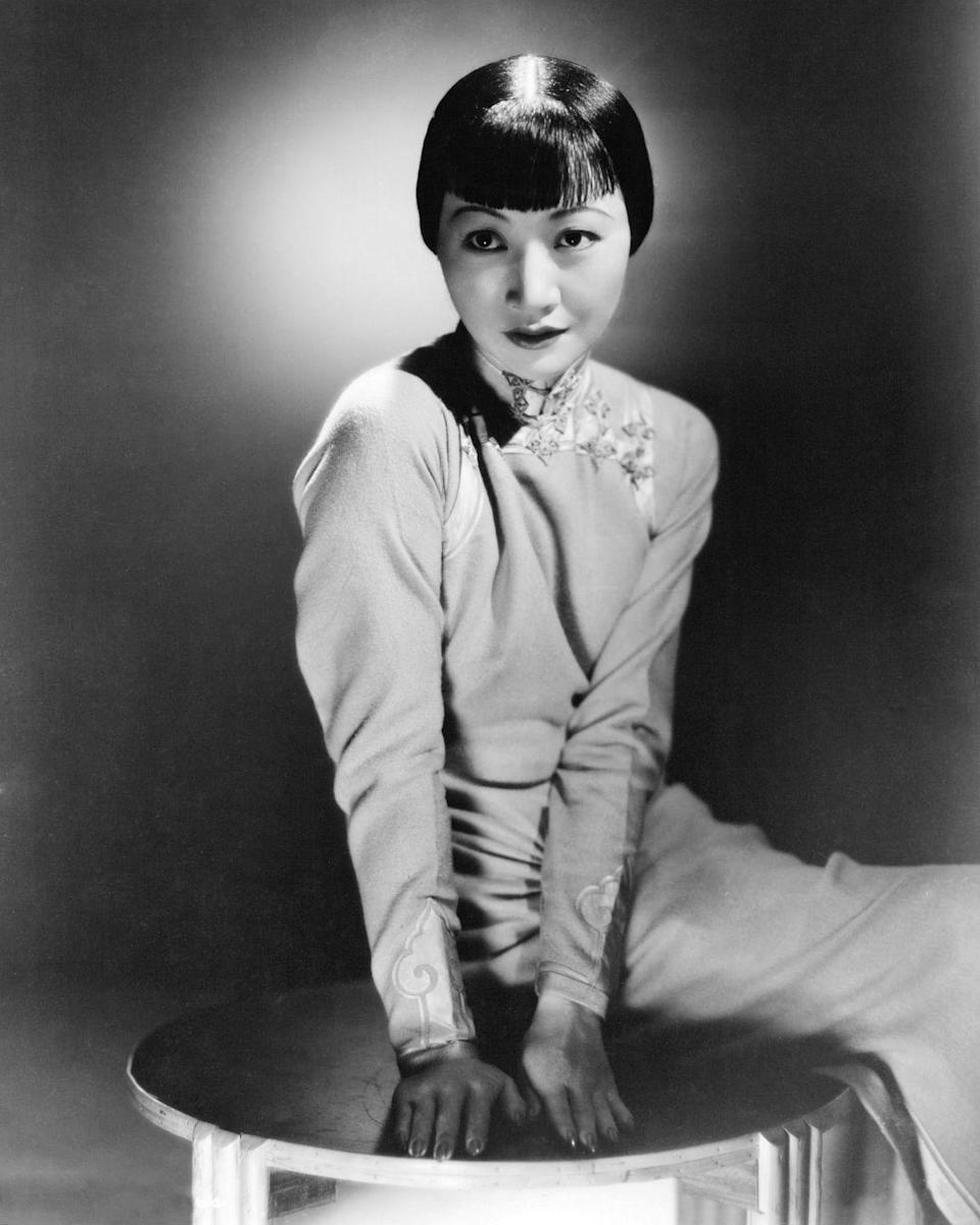 <p>Here, Wong posed for a publicity shot. The actress was seen as a fashion icon in both the U.S. and Europe. </p>