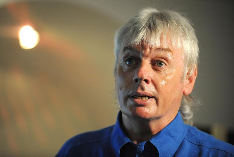David Icke launches his campaign in the Haltemprice and Howden By-Election with a talk in Willerby, East Yorkshire. (Photo by Anna Gowthorpe - PA Images/PA Images via Getty Images)