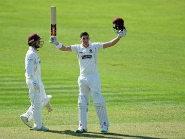 Australia batsman Matt Renshaw marked his debut in English first-class cricket's County Championship with a remarkable hundred for Somerset against Worcestershire at Taunton on Friday.