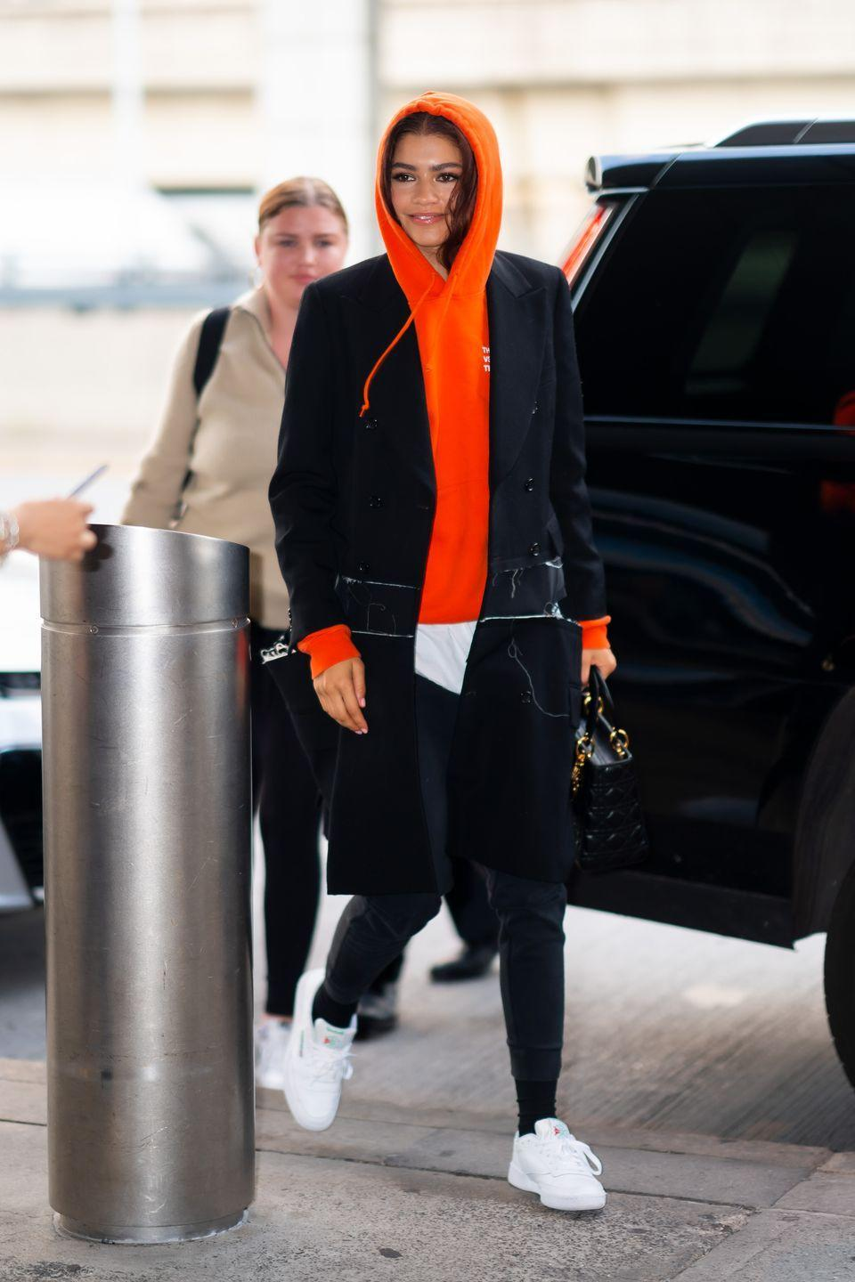 <p>A nice clean white sneaker gives any look and elevated style – even sweats and a hoodie.</p>