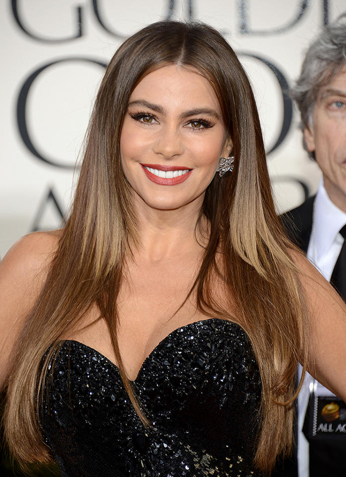 Sofia Vergara  arrives at the 70th Annual Golden Globe Awards at the Beverly Hilton in Beverly Hills, CA on January 13, 2013.