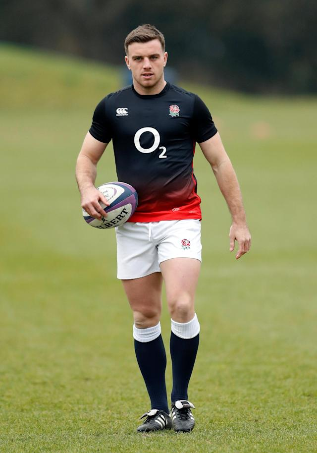 Rugby Union - England Training - Pennyhill Park, Bagshot, Britain - February 22, 2018 England's George Ford during training Action Images via Reuters/Andrew Boyers