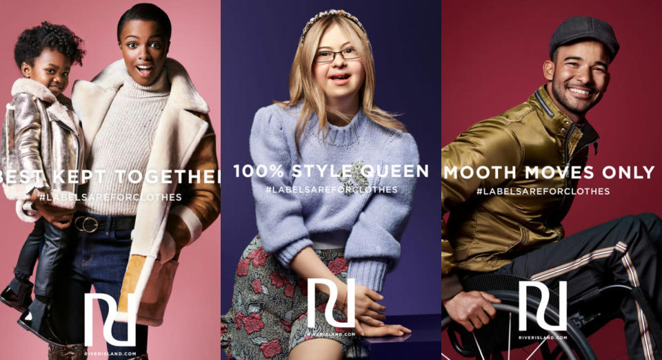 River Island's autumn winter 2018 campaign is a celebration in diversity. [Photo: River Island]