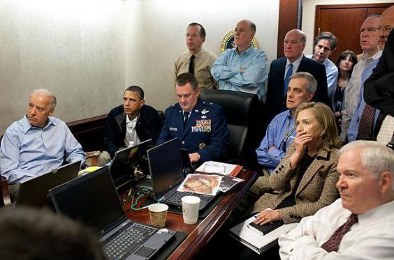 Members of Barack Obama's national security team in the Situation Room during the operation that killed Osama bin Laden (White House)