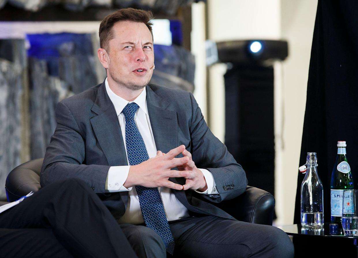 Tesla CEO Elon Musk attends an environmental conference at Astrup Fearnley Museum in Oslo, Norway on April 21, 2016. (Photo credit: HEIKO JUNGE/AFP/Getty Images)