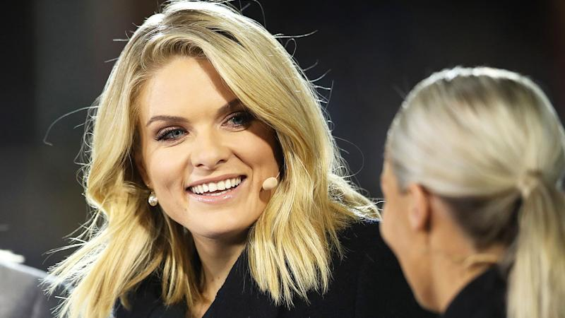 Seen here, Erin Molan has been the female face of Channel Nine's rugby league coverage.