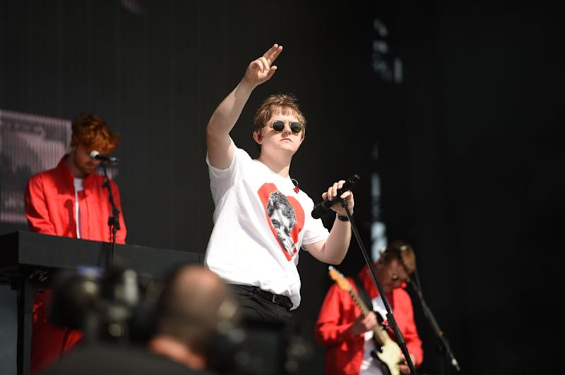 Scottish singer song-writer Lewis Capaldi performs at the Glastonbury Festival of Music and Performing Arts on Worthy Farm near the village of Pilton in Somerset, South West England, on June 29, 2019. (Photo by Oli SCARFF / AFP) (Photo credit should read OLI SCARFF/AFP/Getty Images)