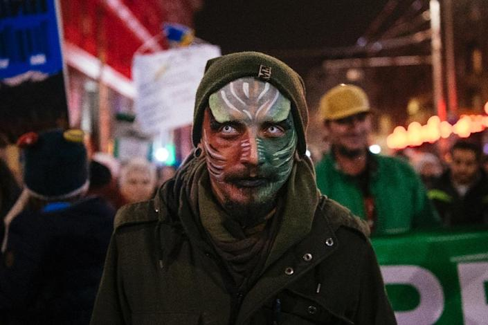 Environmental activists have staged demonstrations over the Bulgarian government's plans (AFP Photo/Dimitar DILKOFF)