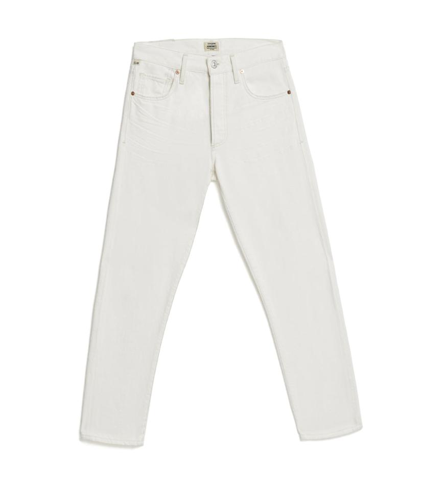 """<p>Liya High Rise Classic Fit In White Noise, $208, <a rel=""""nofollow"""" href=""""https://www.citizensofhumanity.com/liya-high-rise-classic-fit-in-white-noise"""">citizensofhumanity.com</a> </p>"""