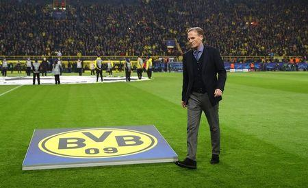Borussia Dortmund CEO Hans-Joachim Watzke before the match