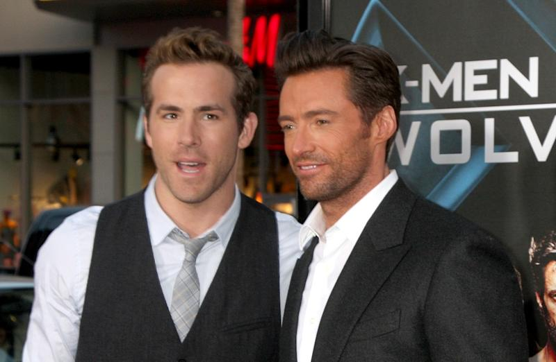 Ryan Reynolds & Hugh Jackman at the LA premiere of 2009's 'X-Men Origins: Wolverine' (Credit: WENN)