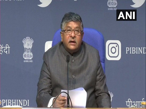 Union Minister Ravi Shankar Prasad during the Cabinet briefing (Photo/ANI)