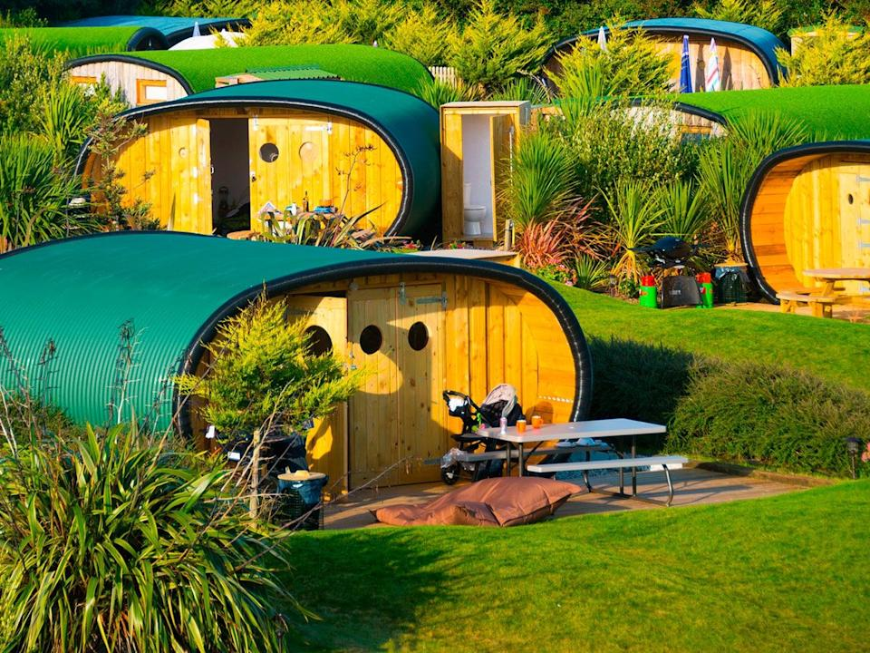 The Atlantic Surf Pods  are all about quirky cave-like glamping and merging indoor living with the outside world (Atlantic Surf Pods)