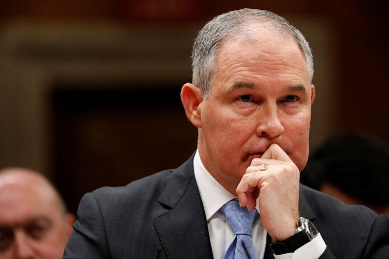 Environmental Protection Agency Administrator Scott Pruitt testifies before a Senate Appropriations Subcommittee on Capitol Hill in Washington on June 27.