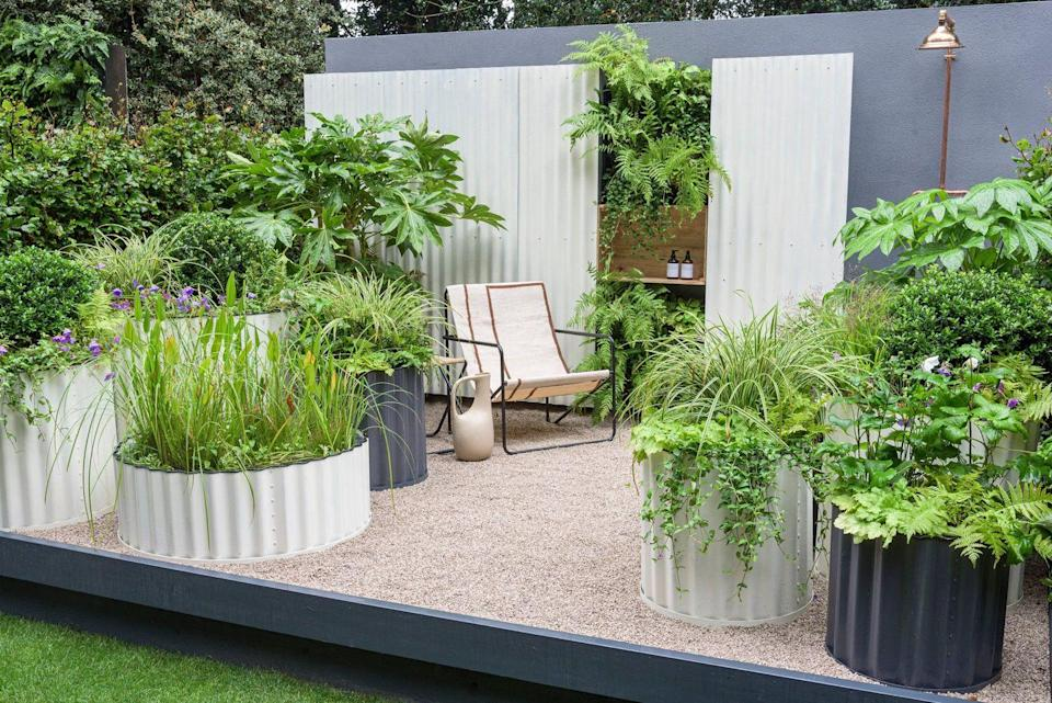 <p><strong>CONTAINER GARDEN</strong></p><p>Designed by Ellie Edkins, the Hot Tin Roof Garden is inspired by a life lived by the beach and is all about creating a relaxing and engaging outdoor space for the urban environment.</p>