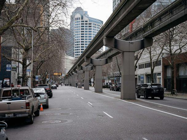 PHOTO: An unusually quiet street is shown in Seattle, March 5, 2020. (Grant Hindsley/The New York Time via Redux)