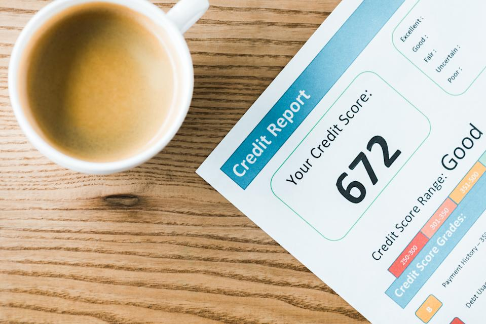 Credit scores can range from 300 to 850. (Photo: Getty)