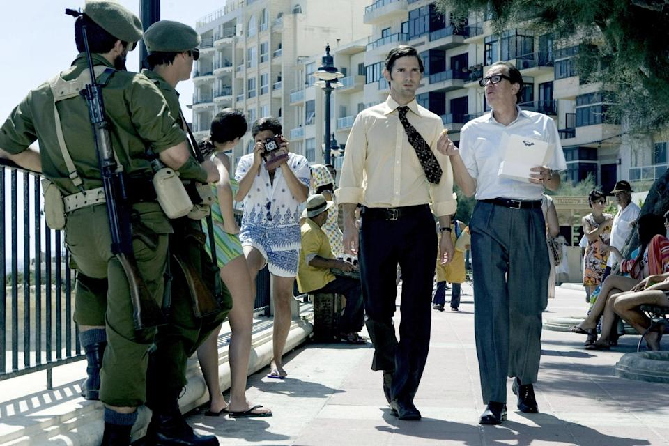 """<p>Is it possible for the good guy to end up on the wrong side? That's a question that plagues Eric Bana's character, Avner Kaufman, in this historical thriller. After eight members of the terrorist group Black September murder 11 Israeli athletes and their coach at the 1972 Olympics, the Israeli government sends Avner to retaliate. But as the number of kills increases, Bana's character begins to wonder whether his actions are truly for the greater good.</p> <p><a href=""""https://www.amazon.com/Munich-Eric-Bana/dp/B00HPS0IT8"""" rel=""""nofollow noopener"""" target=""""_blank"""" data-ylk=""""slk:Available to stream on Cinemax"""" class=""""link rapid-noclick-resp""""><em>Available to stream on Cinemax</em></a></p>"""