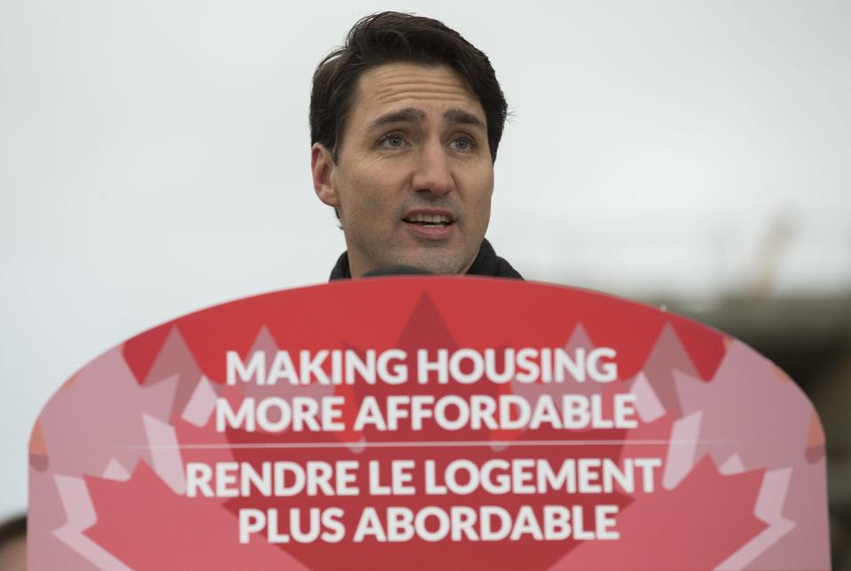 Prime Minister Justin Trudeau announced details of the National Housing Strategy/Getty Images