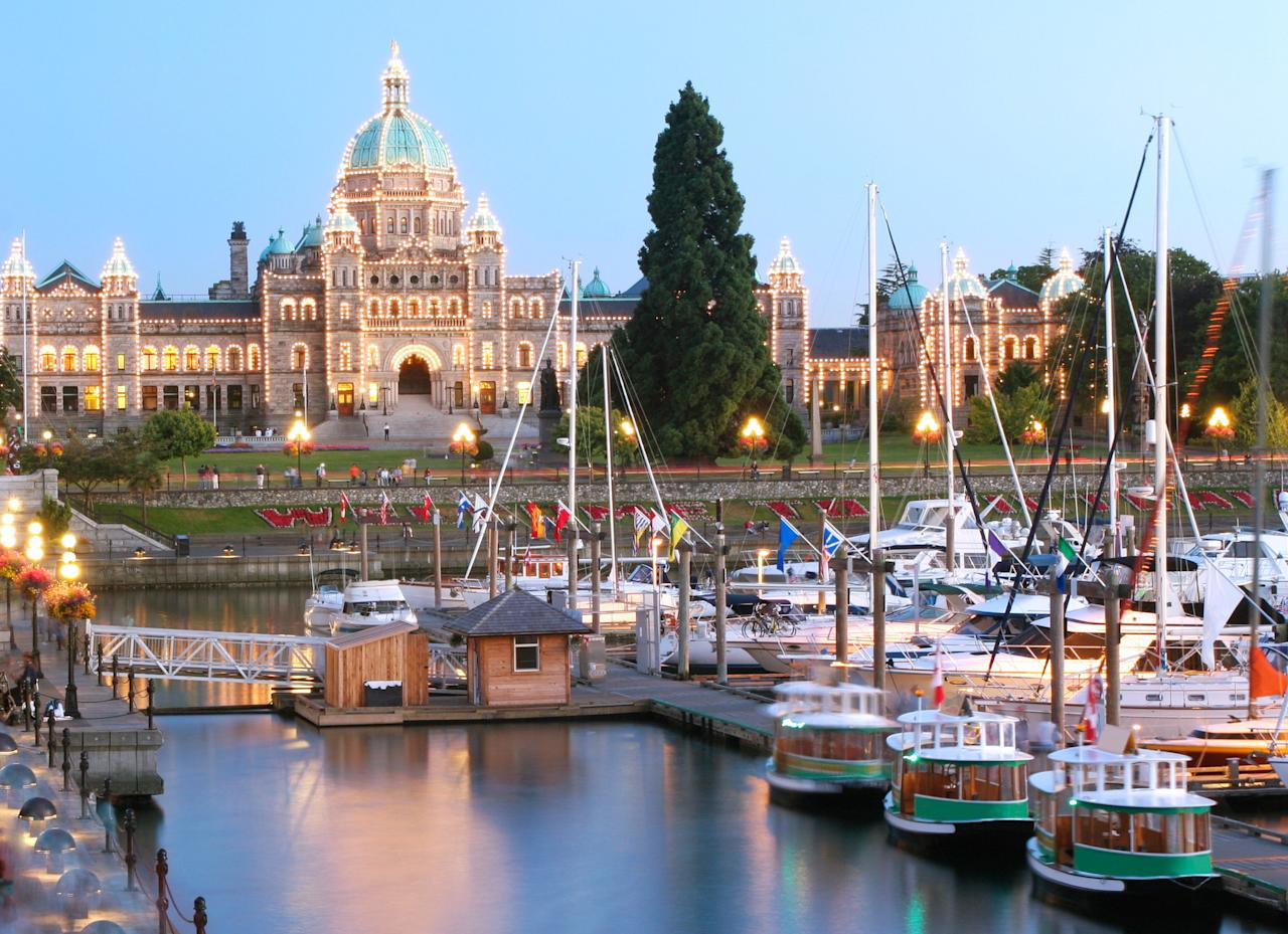 "Located about 60 miles south of busy <a href=""https://www.cntraveler.com/destinations/vancouver?mbid=synd_yahoo_rss"" target=""_blank"">Vancouver</a>, <a href=""https://www.cntraveler.com/galleries/2015-04-14/where-to-eat-stay-and-play-in-victoria-bc-canada?mbid=synd_yahoo_rss"">Victoria</a> is a stately city with a mild climate, manicured gardens, and world-class museums. (Blink and you might think you teleported to England.) Several readers raved about Victoria's cleanliness, while another commented on the ""mix of beautiful nature, arts, museums, and shopping."" As for the locals, ""even the drivers in traffic are polite!"" One view of the Parliament building shining over Victoria Harbor was mentioned over and over as a memorable stop during a visit."