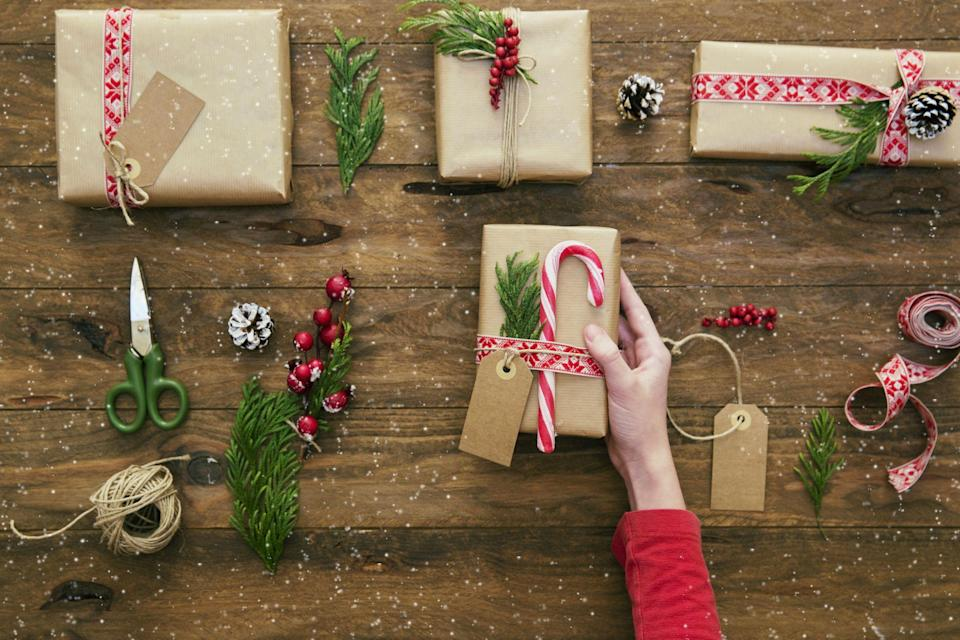 """<p>Sure, they take time, energy, and effort, but that's what make homemade gifts so special. Anyone can run out and purchase something from the store, and while you can probably find a <a href=""""https://www.countryliving.com/shopping/gifts/g2077/christmas-presents/"""" rel=""""nofollow noopener"""" target=""""_blank"""" data-ylk=""""slk:Christmas present"""" class=""""link rapid-noclick-resp"""">Christmas present</a> your recipient will love, DIY Christmas goodies just seem to mean a little bit more. That's why we've assembled a complete catalog of the best crafty Christmas present ideas for everyone on your list. Need a <a href=""""https://www.countryliving.com/shopping/gifts/g24995746/grandpa-gifts/"""" rel=""""nofollow noopener"""" target=""""_blank"""" data-ylk=""""slk:grandpa gift"""" class=""""link rapid-noclick-resp"""">grandpa gift</a>? How about a <a href=""""https://www.countryliving.com/diy-crafts/g28749066/diy-photo-ornaments/"""" rel=""""nofollow noopener"""" target=""""_blank"""" data-ylk=""""slk:DIY photo ornament"""" class=""""link rapid-noclick-resp"""">DIY photo ornament</a> made from pics of the kids? We also have the tastiest <a href=""""https://www.countryliving.com/food-drinks/g1059/homemade-food-gifts/"""" rel=""""nofollow noopener"""" target=""""_blank"""" data-ylk=""""slk:homemade food gifts"""" class=""""link rapid-noclick-resp"""">homemade food gifts</a> perfect for everyone from <a href=""""https://www.countryliving.com/shopping/gifts/g24454920/best-teacher-gifts/"""" rel=""""nofollow noopener"""" target=""""_blank"""" data-ylk=""""slk:teachers"""" class=""""link rapid-noclick-resp"""">teachers</a> to <a href=""""https://www.countryliving.com/shopping/gifts/g1340/hostess-gift-ideas/"""" rel=""""nofollow noopener"""" target=""""_blank"""" data-ylk=""""slk:hostesses"""" class=""""link rapid-noclick-resp"""">hostesses</a>, and plenty of projects that end with an ideal item for her (that snazzy bubble bath gift box) or him (how 'bout those hilarious hand-stitched hankies??).</p><p>And what's <em>really </em>awesome about this list is that it's great for every skill set, from hard core DIYers to those who don't own a """