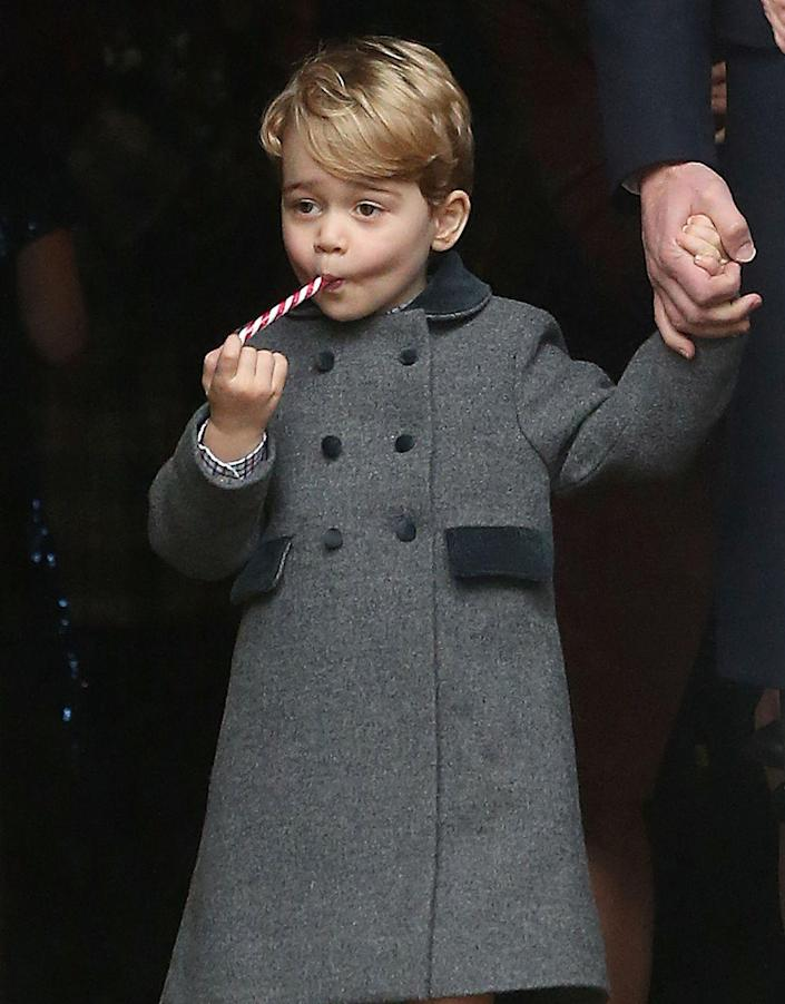 """<p>The Duchess of Cambridge knows the best way to keep a kid occupied <a href=""""https://www.townandcountrymag.com/society/a9062/princess-charlotte-prince-george-royal-family-christmas-church-service/"""" rel=""""nofollow noopener"""" target=""""_blank"""" data-ylk=""""slk:during Christmas church services"""" class=""""link rapid-noclick-resp"""">during Christmas church services</a> is with a candy cane.</p><p><strong>Read More</strong>: <a href=""""https://www.townandcountrymag.com/society/tradition/g10017829/photos-kate-middleton-kids/"""" rel=""""nofollow noopener"""" target=""""_blank"""" data-ylk=""""slk:12 Times Duchess Kate Was a Total Mom"""" class=""""link rapid-noclick-resp"""">12 Times Duchess Kate Was a Total Mom</a></p>"""