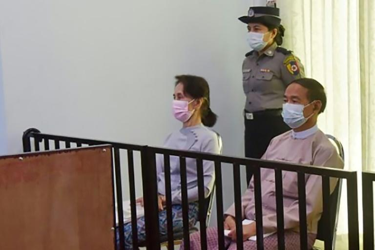 Suu Kyi has largely disappeared from view, seen only in grainy state media photos from the bare courtroom hosting her trial and relying on her lawyers to relay messages to the outside world
