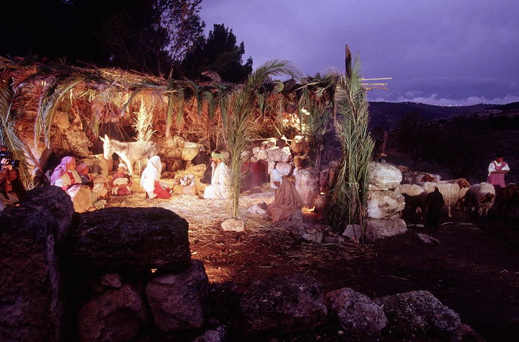 <p></p><p>In Christian theology the nativity marks the birth of Jesus in fulfillment of the divine will of God, to save the world from sin. The story of Jesus' birth (the nativity) is often retold by children through Nativity plays.<br />(Getty) </p><p></p>