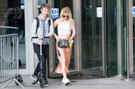 LONDON, ENGLAND - JULY 21: Matt Edmondson and Mollie King leave BBC Broadcasting House after their Sunday Morning radio 1 show on July 21st, 2019 in London, England.(Photo by Ollie Millington/Getty Images)