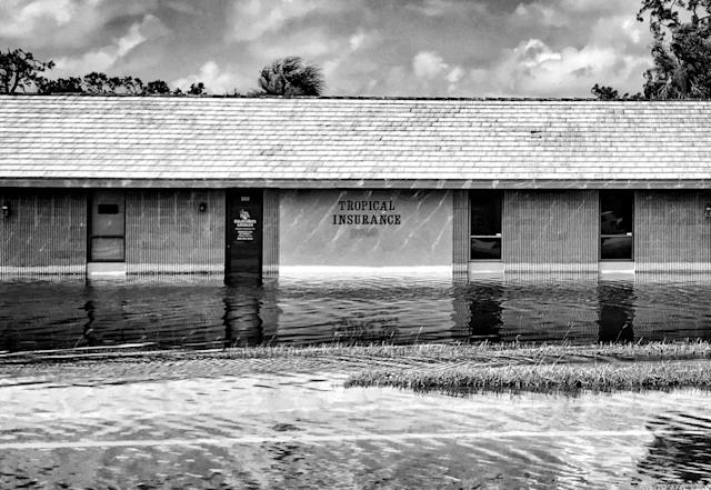 <p>A flooded office park in the aftermath of Hurricane Irma in Bonita Springs, Fla. (Photo: Holly Bailey/Yahoo News) </p>