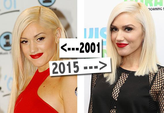 <p>Gwen looks as youthful today as she did when she was in No Doubt. She says her trademark red lippy helps her stay looking fresh (apparently she's been wearing it since she was 17) and she also wears SPF50 on a daily basis. <i>[Photo: PA/Getty/Yahoo Style UK]</i></p>