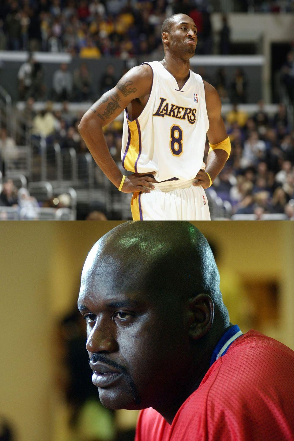 "<p>One of the biggest sports feuds of all time wasn't between rival teams—it was a power struggle between two giants on the Lakers. The teammates regularly crapped all over each other in the press, with O'Neal <a href=""http://chronicle.augusta.com/stories/2003/10/29/nba_398835.shtml#.WWgTdIjyvIU"" rel=""nofollow noopener"" target=""_blank"" data-ylk=""slk:calling the Lakers"" class=""link rapid-noclick-resp"">calling the Lakers</a> ""my team,"" and Bryant responding by calling him ""child-like,"" ""jealous,"" and ""fat."" It got so bad that Coach Phil Jackson called a team meeting to attempt to work things out. ""We haven't had a really good example here of maturity,"" he told <a href=""http://chronicle.augusta.com/stories/2003/10/29/nba_398835.shtml#.WWgTdIjyvIU"" rel=""nofollow noopener"" target=""_blank"" data-ylk=""slk:the Associated Press"" class=""link rapid-noclick-resp"">the Associated Press</a>. At the end of the season, O'Neal was traded and the feud became a slightly healthier inter-team rivalry.</p>"