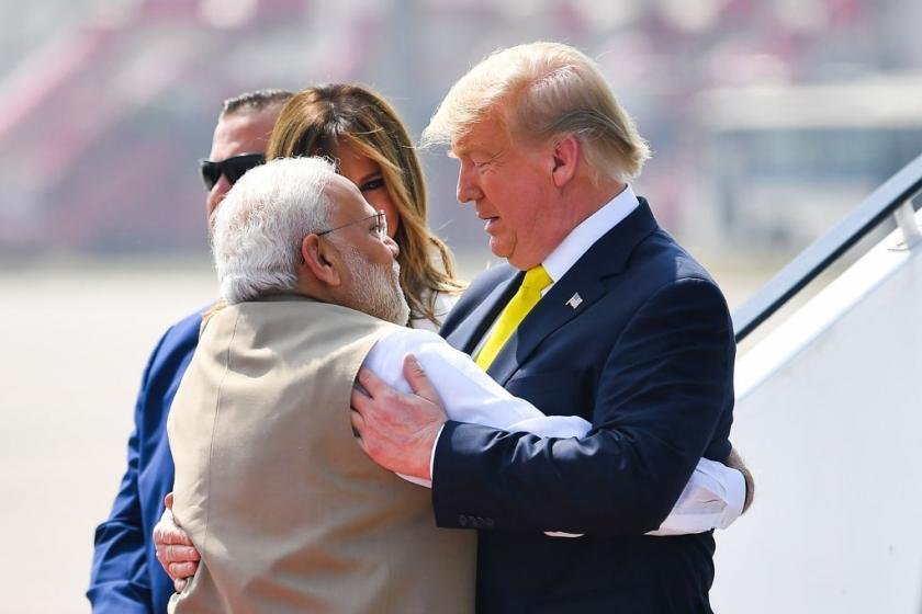 Trump arrives in India for 36 hours of pageantry, trade talks