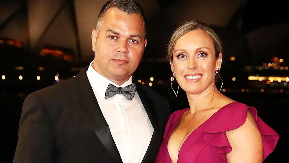 Anthony Seibold, pictured here with his wife at the 2018 Dally M Awards.