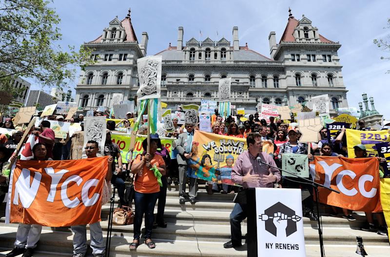 Protests urging the passage of the CCPA three years ago.  (Photo: ASSOCIATED PRESS)