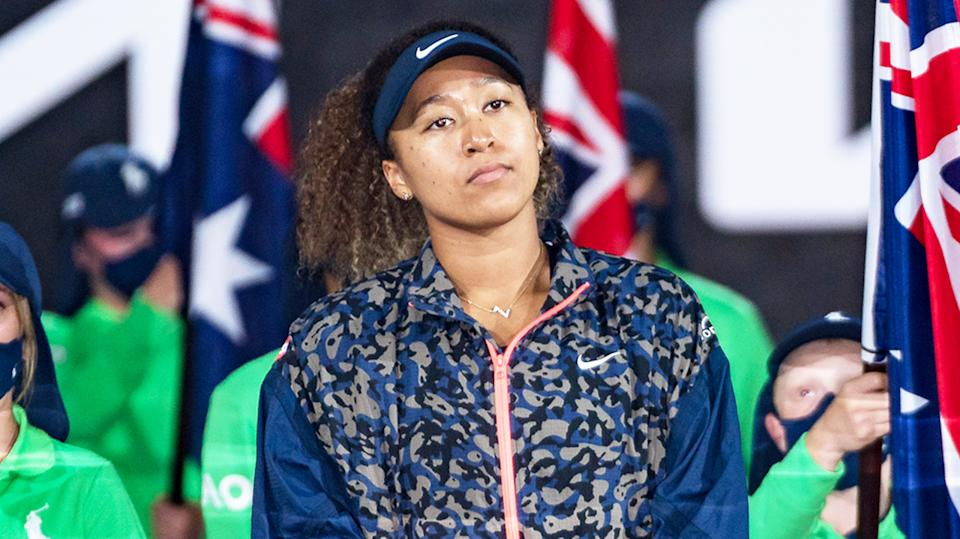 Naomi Osaka (pictured) has opened up on her mental health battle in a piece for TIME Magazine. (Getty Images)