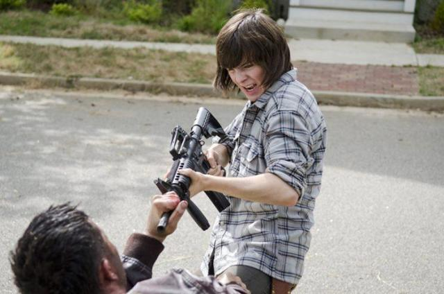 Chandler Riggs as Carl Grimes in 'The Walking Dead' (Photo: Gene Page/AMC)