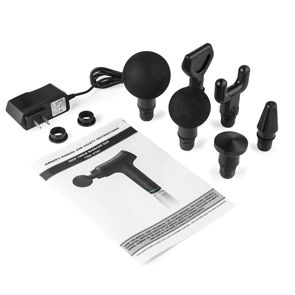 <p>The <span>XtremepowerUS Powerful Electric Gun Cordless Percussion Massager</span> ($60, originally $200) will release the tension in your muscles.</p>