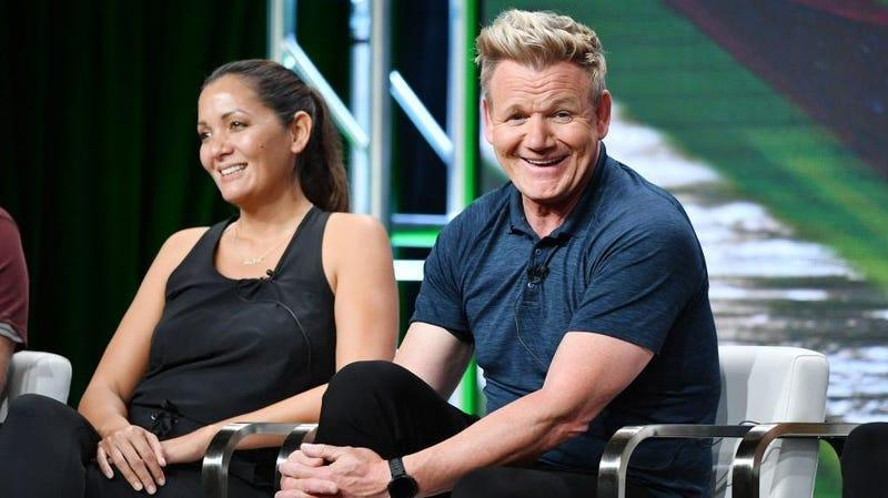 Gordon Ramsay, right, chuckles to himself while thinking up what drive-thru prank he'll play next.