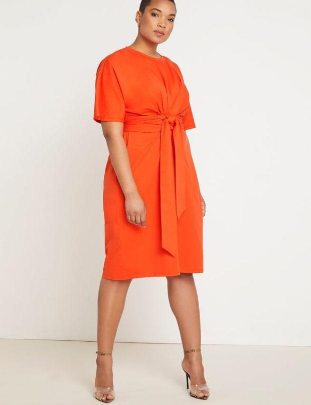 """<p>Eloquii Cross Front Flutter Sleeve Dress, $99.95, <a href=""""https://rstyle.me/+li8A86-f699Rib4Ms6lvSQ"""" rel=""""nofollow noopener"""" target=""""_blank"""" data-ylk=""""slk:available here"""" class=""""link rapid-noclick-resp"""">available here</a> (sizes 14-28).</p>"""