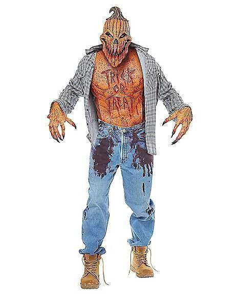 """<p><strong>Spirit Halloween</strong></p><p>spirithalloween.com</p><p><strong>$59.99</strong></p><p><a href=""""https://go.redirectingat.com?id=74968X1596630&url=https%3A%2F%2Fwww.spirithalloween.com%2Fproduct%2Fscary-pumpkin-costume-set%2F149621.uts&sref=https%3A%2F%2Fwww.goodhousekeeping.com%2Fholidays%2Fhalloween-ideas%2Fg4564%2Fscary-halloween-costumes%2F"""" rel=""""nofollow noopener"""" target=""""_blank"""" data-ylk=""""slk:Shop Now"""" class=""""link rapid-noclick-resp"""">Shop Now</a></p><p>You've tried to make terrifying jack o' lanterns before, but nothing has come out this horrifying. (Those aren't pumpkin guts on his pants.) </p>"""