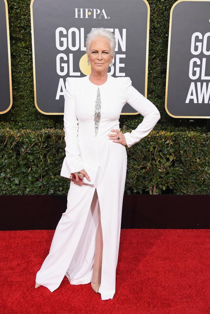 Jamie Lee Curtis at the Golden Globe Awards, Jan. 6, 2019. (Photo: Getty)