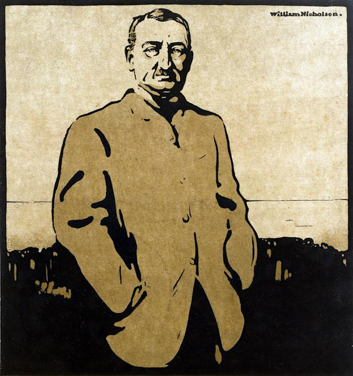 Cecil Rhodes in Twelve Portraits, 1899, hugely successful woodcuts by William Nicholson - Bridgeman Images