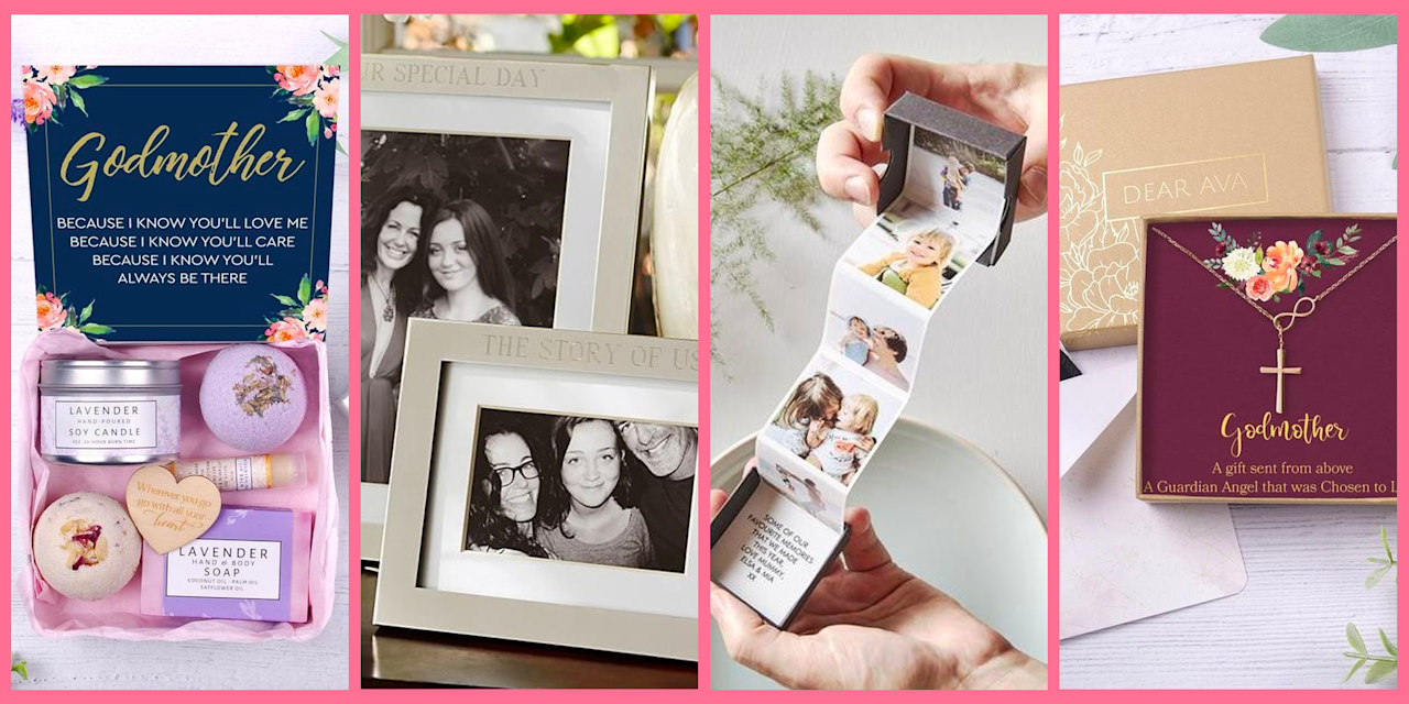 """<p>Whether you want to honor the most special mother-like figure in your life on—what else—<a href=""""https://www.oprahmag.com/life/g31400004/unique-mothers-day-gifts/"""" target=""""_blank"""">Mother's Day</a>, you're celebrating your godmother's birthday, or you need to ask her that one very big question (will you be my child's godmother?), these unique finds make great godmother gifts. Some are for just right for parents """"proposing"""" to chosen friends and family members and others are more appropriate for gifting directly from the god child, but they all do the same thing: show her just how much she means to you and your family.  </p>"""