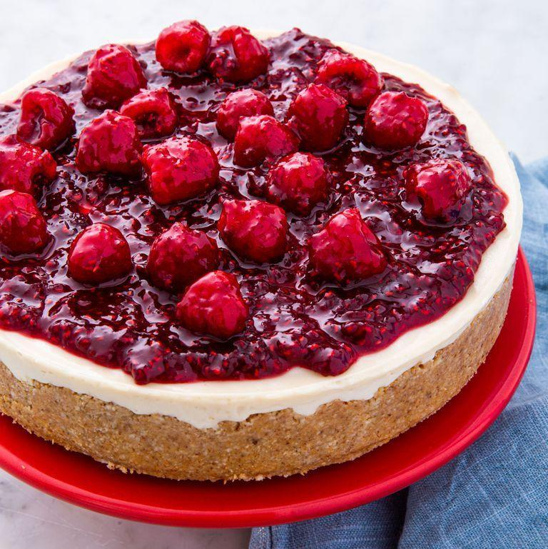 """<p>How, you ask? Never underestimate the power of creamy blended cashews.</p><p><em><a href=""""https://www.delish.com/cooking/nutrition/a29369129/vegan-cheesecake-recipe/"""" rel=""""nofollow noopener"""" target=""""_blank"""" data-ylk=""""slk:Get the recipe from Delish »"""" class=""""link rapid-noclick-resp"""">Get the recipe from Delish »</a></em></p>"""