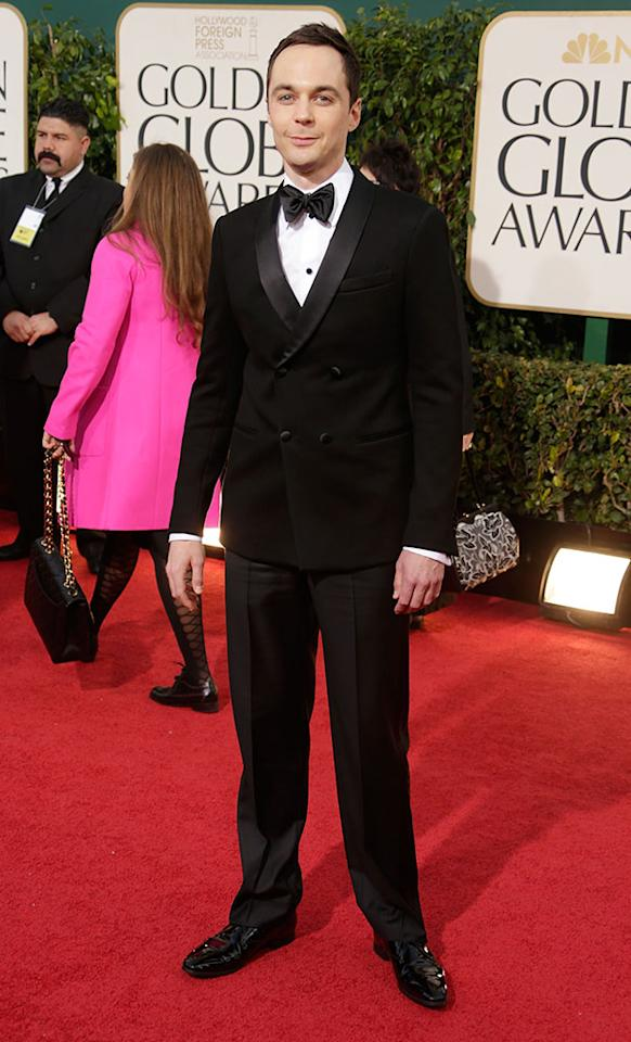 Jim Parsons arrives at the 70th Annual Golden Globe Awards at the Beverly Hilton in Beverly Hills, CA on January 13, 2013.